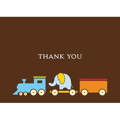 Choo choo! Thank You Card