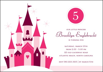 Pink Princess - Birthday Party Invitation