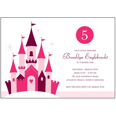 Pink Princess -- Birthday Party Invitation