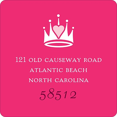 Pink Princess Address Label