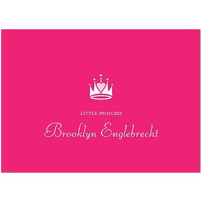 Pink Princess Thank You Card