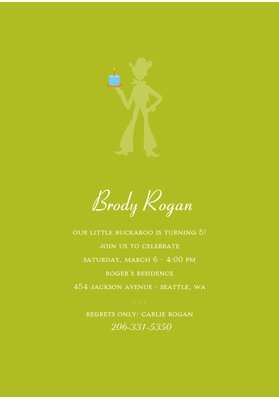 Yee-haw -- Boys Birthday Invitation