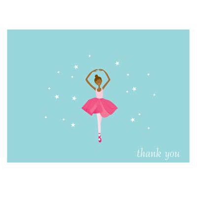 Twinkle Toes Dark Ebony Thank You Card