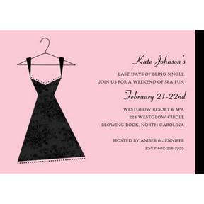 Little Black Dress -- Bachelorette Party Invitation