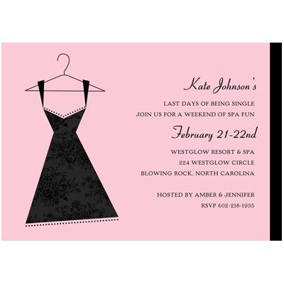 Little Black Dress Bachelorette Party Invitation