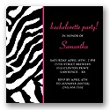 Wild Night Out -- Lipstick Bachelorette Party Invitation