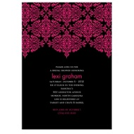 Delicate Lace Ebony Bachelorette Party Invitation
