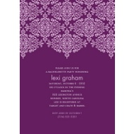 Delicate Lace Grape Bachelorette Party Invitation