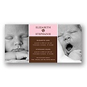 Double the Love -- Pink Twins Photo Birth Announcement