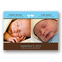 Twins Photo Birth Announcement
