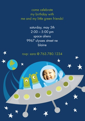 Green Friends - Recycled Birthday Invitation