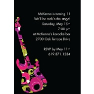 Rock On - Pink Birthday Party Invitation