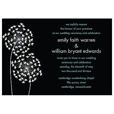Flirty Stems -- Wedding Invitation