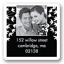 Flirty Stems -- Ebony Photo Address Label