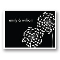 Flirty Stems -- Ebony Thank You Card