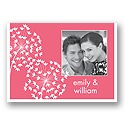 Flirty Stems -- Pink Photo Thank You Card
