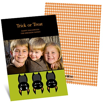 Just Batty -- Halloween Photo Card