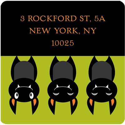Just Batty -- Halloween Address Label