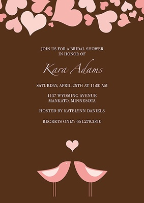 Showering Love -- Bridal Shower Invitation
