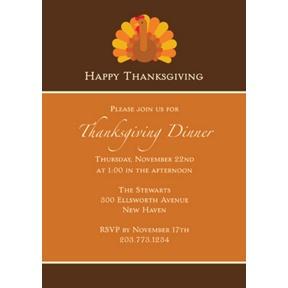 Gobble, Gobble -- Thanksgiving Invitation