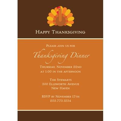 Gobble, Gobble Thanksgiving Invitation