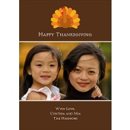 Gobble, Gobble Fall Photo Card