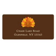 Gobble Gobble Turkey Thanksgiving Address Label