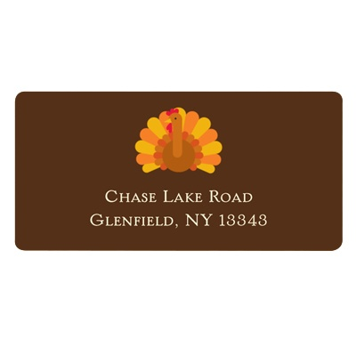 Gobble Gobble Turkey -- Thanksgiving Address Label