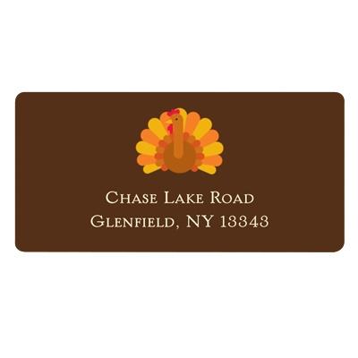 Gobble Gobble Turkey Thanksgiving Address Label