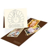 Gobble Gobble Turkey Kids Thank You Cards