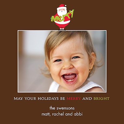 Jolly Santa -- Holiday Photo Cards