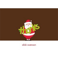Jolly Santa Clause Christmas Thank You Cards