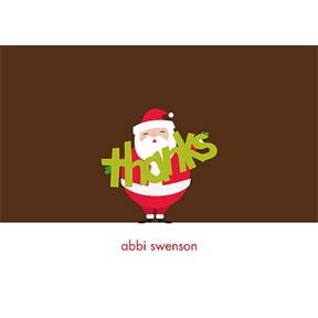 Jolly Santa Clause -- Christmas Thank You Cards