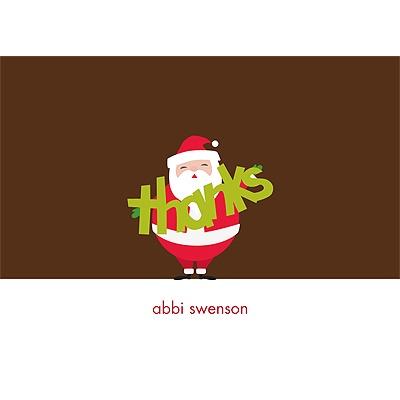 Jolly Santa Clause -- Christmas Thank You Card