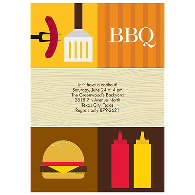 All Things BBQ BBQ Party Invitations