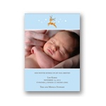 Baby Reindeer -- Boy Winter Birth Announcement