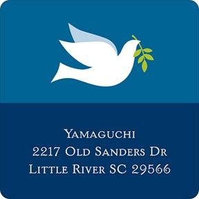 Winter Dove -- Christmas Address Labels
