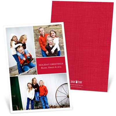 Classy Collage Photo Christmas Cards