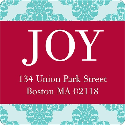 JOY Christmas Address Labels