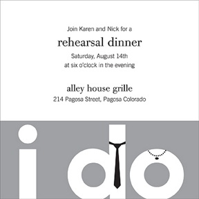 The Night Before I Do -- Rehearsal Dinner Invitation