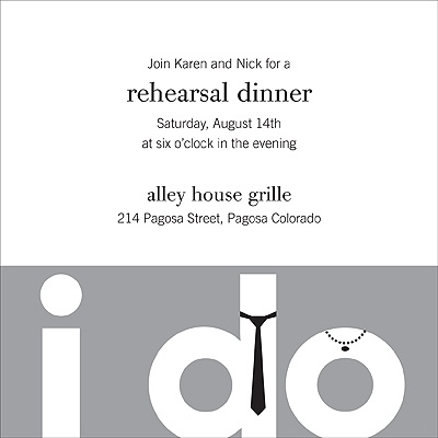 The Night Before I Do Rehearsal Dinner Invitation