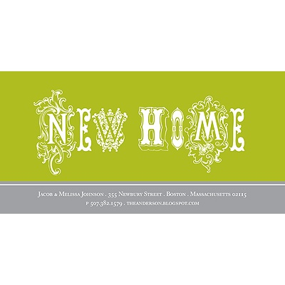 New Home Moving Announcement