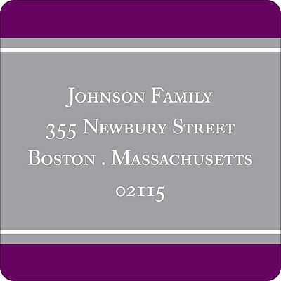 New Home -- Grape Address Label