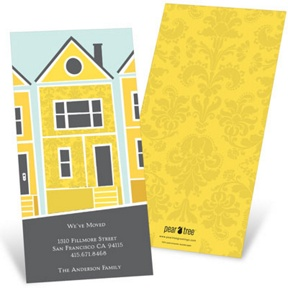 House on a Hill -- We've Moved Card