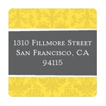 House on a Hill -- Address Label