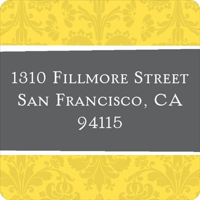 House on a Hill Address Label
