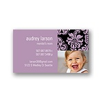 Elegant Damask -- Violet Mommy Card