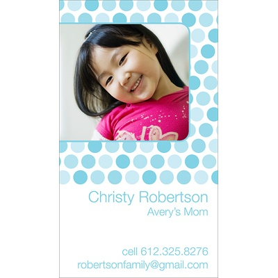 Dainty Dots -- Blue Mommy Card