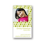 Dainty Dots -- Olive Mommy Card