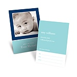 Scallops -- Blue Mommy Card